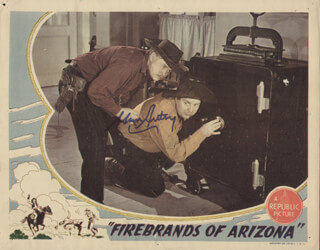 GENE AUTRY - LOBBY CARD SIGNED