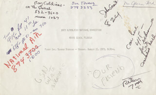 Autographs: GLENN FORD - DOCUMENT UNSIGNED 08/21/1972