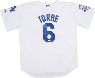 Autographs: JOE TORRE - JERSEY SIGNED