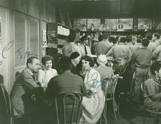HOLIDAY FOR LOVERS MOVIE CAST - AUTOGRAPHED SIGNED PHOTOGRAPH CO-SIGNED BY: JANE WYMAN, CLIFTON WEBB