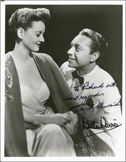 NOW VOYAGER MOVIE CAST - AUTOGRAPHED SIGNED PHOTOGRAPH CO-SIGNED BY: PAUL HENREID, BETTE DAVIS