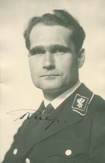 Autographs: RUDOLF HESS - COLLECTION WITH PRIME MINISTER JOE CLARK (CANADA), WOLF RUDIGER HESS, DONALD ALEXANDER BLENKARN, HUGH TRUEMAN