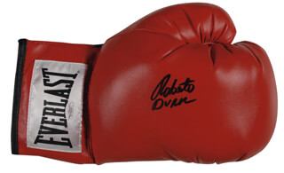 ROBERTO HANDS OF STONE DURAN - BOXING GLOVE SIGNED