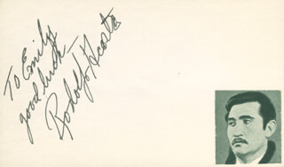Autographs: RODOLFO ACOSTA - AUTOGRAPH NOTE SIGNED