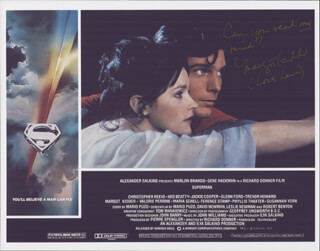 MARGOT KIDDER - LOBBY CARD SIGNED