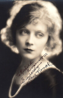 JANE NOVAK - AUTOGRAPHED INSCRIBED PHOTOGRAPH