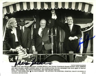 MY FELLOW AMERICANS MOVIE CAST - AUTOGRAPHED SIGNED PHOTOGRAPH CO-SIGNED BY: JAMES GARNER, LAUREN BACALL