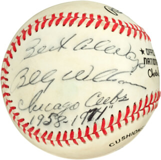 BILLY WILLIAMS - AUTOGRAPHED SIGNED BASEBALL