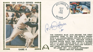 Autographs: ROBERTO ALOMAR - COMMEMORATIVE ENVELOPE SIGNED