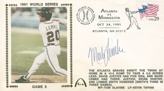 MARK LEMKE - COMMEMORATIVE ENVELOPE SIGNED