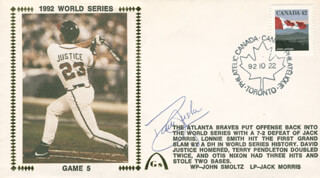 DAVID JUSTICE - COMMEMORATIVE ENVELOPE SIGNED