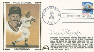 WILLIE STARGELL - COMMEMORATIVE COVER SIGNED