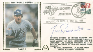 TOM LASORDA - COMMEMORATIVE ENVELOPE SIGNED