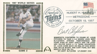 BERT BLYLEVEN - COMMEMORATIVE ENVELOPE SIGNED