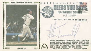 ALAN TRAMMELL - COMMEMORATIVE ENVELOPE SIGNED