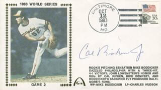 CAL RIPKEN JR. - COMMEMORATIVE ENVELOPE SIGNED