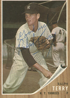 RALPH TERRY - TRADING/SPORTS CARD SIGNED