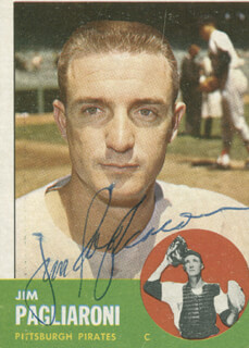 JIM PAG PAGLIARONI - TRADING/SPORTS CARD SIGNED