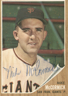 Autographs: MIKE FRANCIS MCCORMICK - TRADING/SPORTS CARD SIGNED
