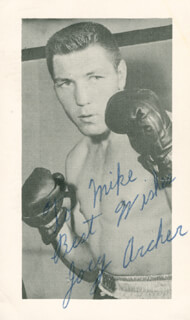Autographs: JOEY (IRISH) ARCHER - INSCRIBED PRINTED PHOTOGRAPH SIGNED IN INK