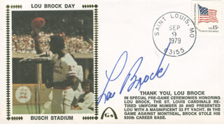 LOU BROCK - COMMEMORATIVE ENVELOPE SIGNED