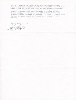 LOU BROCK - TYPED LETTER SIGNED