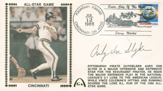 ANDY VAN SLYKE - COMMEMORATIVE ENVELOPE SIGNED