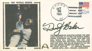 DUSTY BAKER - COMMEMORATIVE ENVELOPE SIGNED
