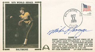 MIKE FLANAGAN - COMMEMORATIVE ENVELOPE SIGNED