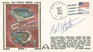 BOB BULL WATSON - COMMEMORATIVE ENVELOPE SIGNED