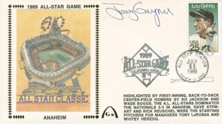 TONY GWYNN - COMMEMORATIVE ENVELOPE SIGNED