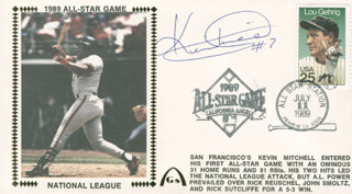 KEVIN MITCHELL - COMMEMORATIVE ENVELOPE SIGNED
