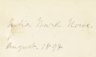 JULIA WARD HOWE - AUTOGRAPH NOTE SIGNED 8/1898