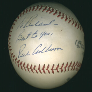 RICHIE WHITEY ASHBURN - INSCRIBED BASEBALL SIGNED  - HFSID 284607