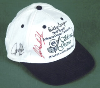 Autographs: BILLY CASPER - HAT SIGNED CIRCA 1999 CO-SIGNED BY: JOHN DALY, JOEY SINDELAR, JEFF SLUMAN