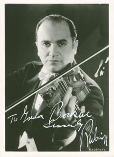 DAVID RUBINOFF - AUTOGRAPHED INSCRIBED PHOTOGRAPH