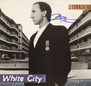 THE WHO (PETER TOWNSHEND) - RECORD ALBUM COVER SIGNED