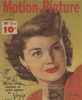 ESTHER WILLIAMS - MAGAZINE COVER SIGNED