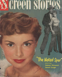 JANET LEIGH - MAGAZINE COVER SIGNED