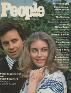 CYBILL SHEPHERD - INSCRIBED MAGAZINE COVER SIGNED