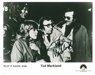 TED MARKLAND - AUTOGRAPHED SIGNED PHOTOGRAPH