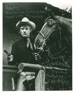WILL SUGARFOOT HUTCHINS - AUTOGRAPHED SIGNED PHOTOGRAPH