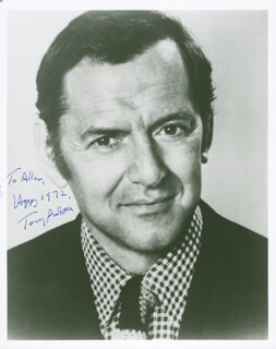 TONY RANDALL - AUTOGRAPHED INSCRIBED PHOTOGRAPH 1972