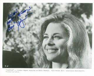 LINDSAY WAGNER - AUTOGRAPHED INSCRIBED PHOTOGRAPH