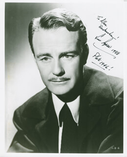 LEW AYRES - AUTOGRAPHED INSCRIBED PHOTOGRAPH 1988