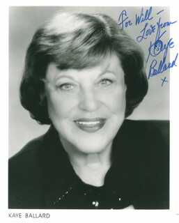 KAYE BALLARD - AUTOGRAPHED INSCRIBED PHOTOGRAPH