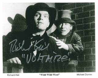 RICHARD KIEL - PRINTED PHOTOGRAPH SIGNED IN INK