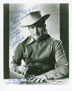 ROBERT CLARKE - AUTOGRAPHED INSCRIBED PHOTOGRAPH