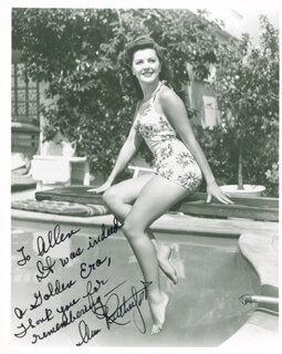 ANN RUTHERFORD - AUTOGRAPHED INSCRIBED PHOTOGRAPH