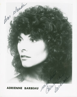 ADRIENNE BARBEAU - AUTOGRAPHED INSCRIBED PHOTOGRAPH